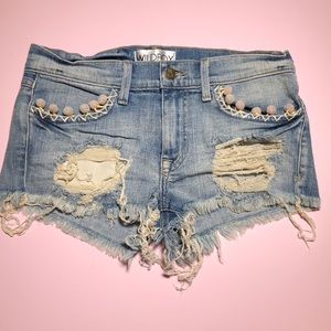 Wildfox rainbow Pom Pom shorts
